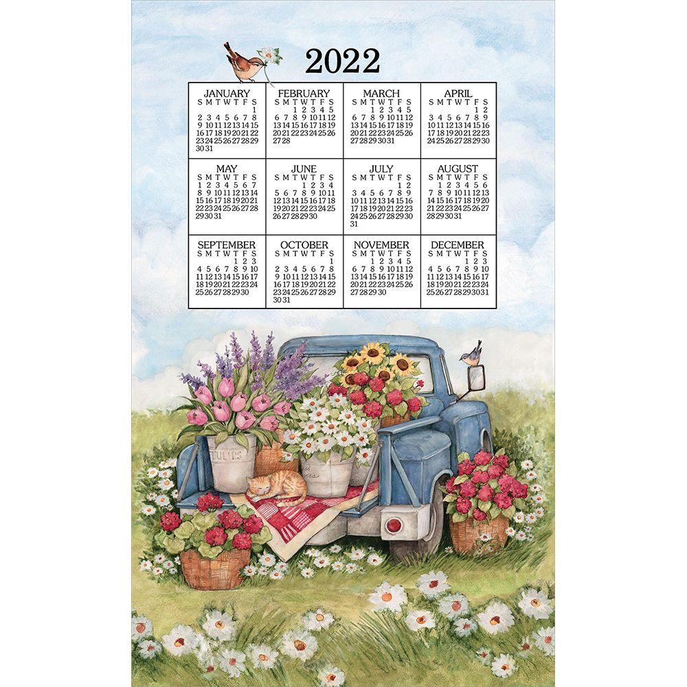 Flower Truck 2022 Kitchen Towel Calendar