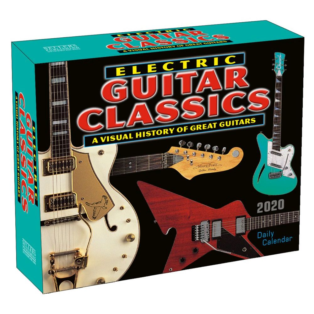 Electric Guitar Classics 2021 Desk Calendar