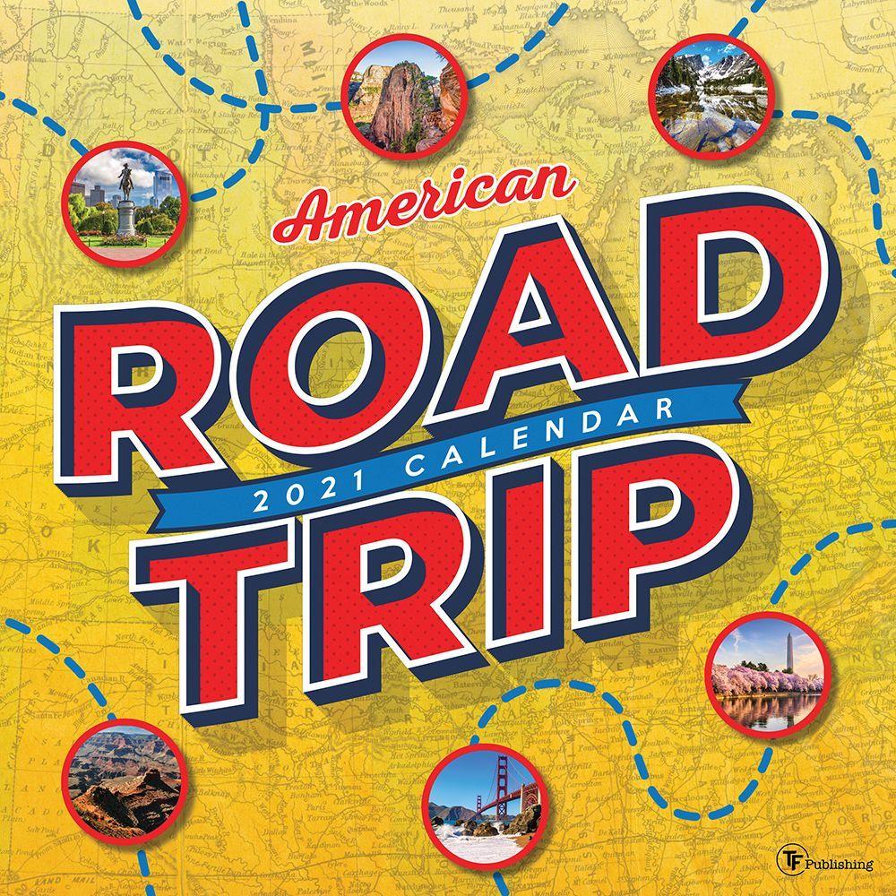 2021 America Road Trip Wall Calendar
