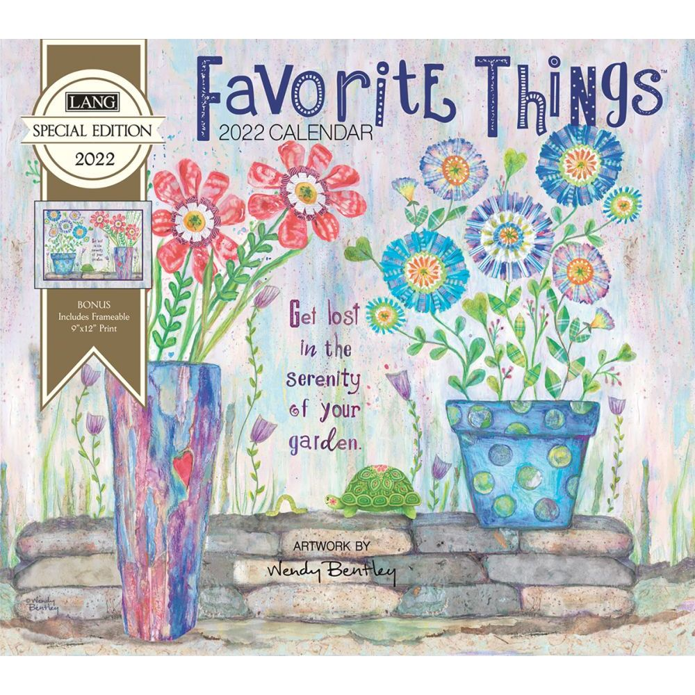 Favorite Things 2022 Special Edition Wall Calendar