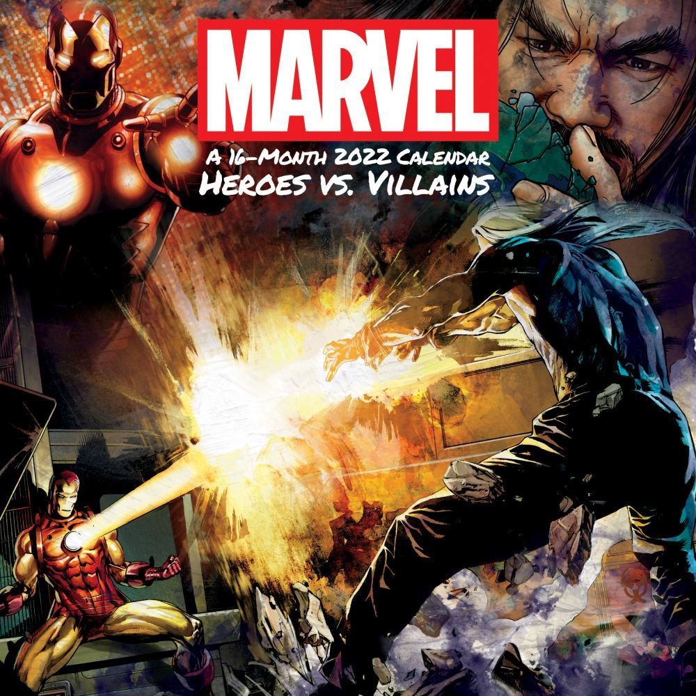 Marvel Heroes vs Villains 2022 Wall Calendar