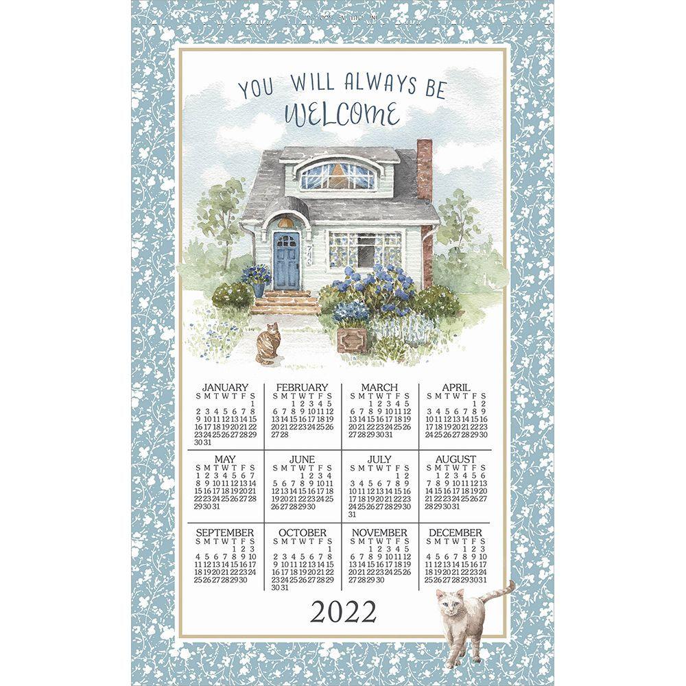 Welcome Home 2022 Kitchen Towel Calendar