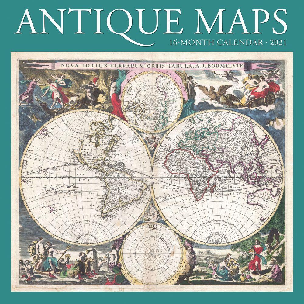 2021 Antique Maps Wall Calendar