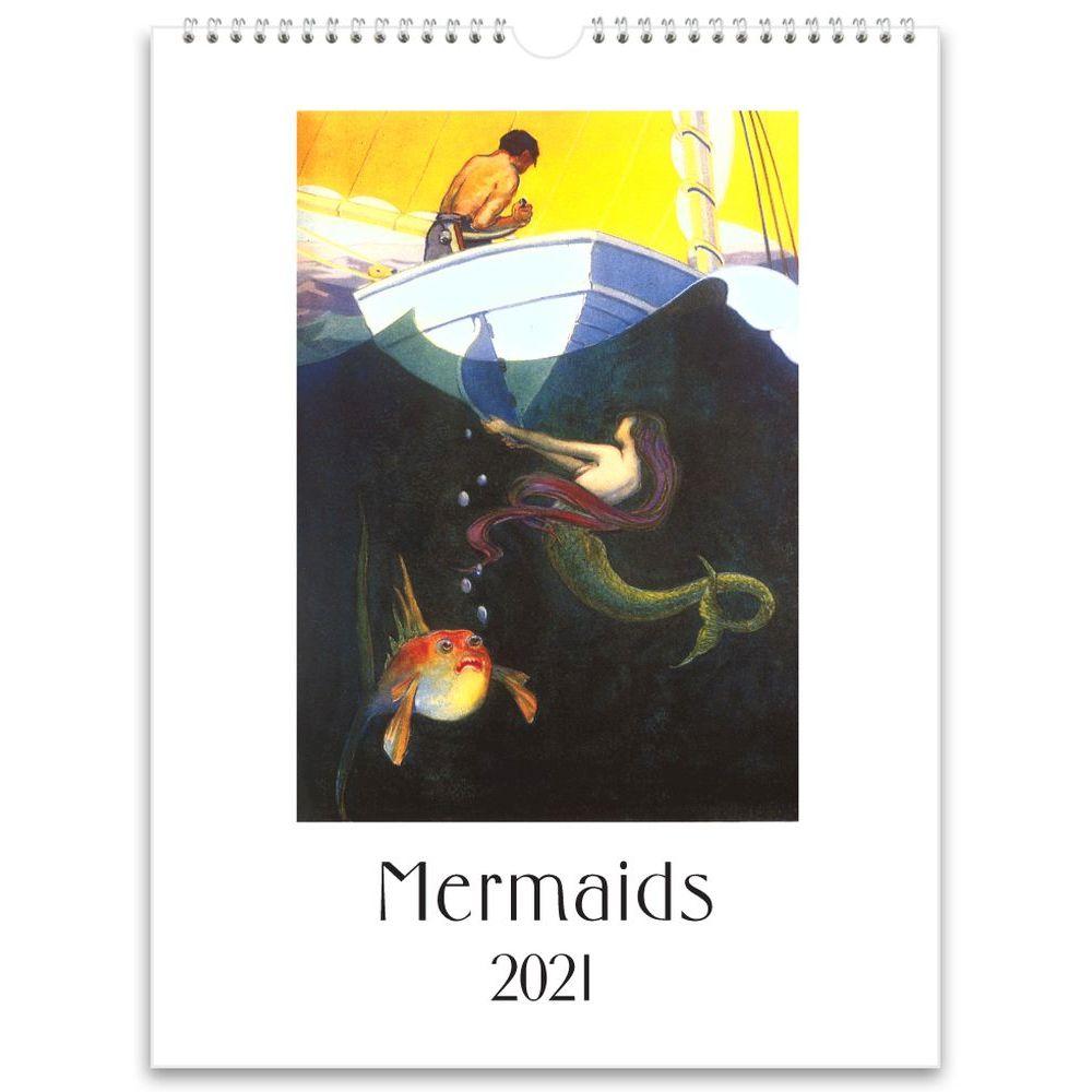 2021 Mermaids Nostalgic Poster Wall Calendar