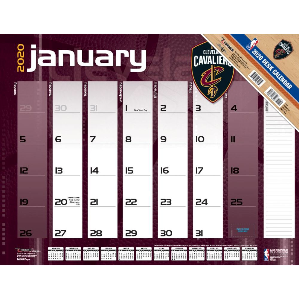 Cleveland Cavaliers 2021 Desk Pad