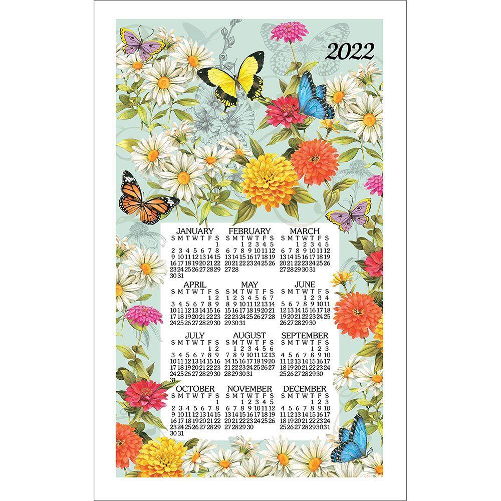 Butterfly Garden 2022 Kitchen Towel Calendar