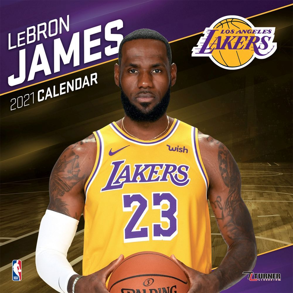 2021 NBA Lebron Games Lakers Wall Calendar