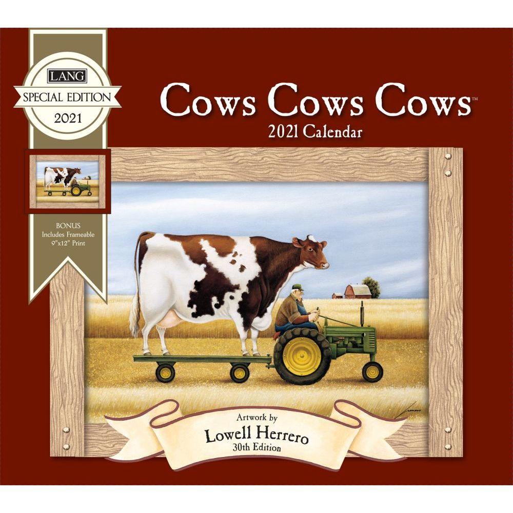 2021 Cows Cows Cows Special Edition Wall Calendar
