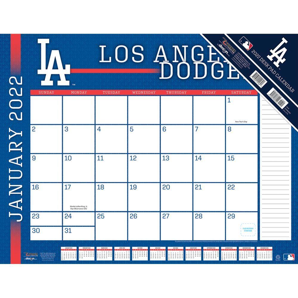 Los Angeles Dodgers 2022 Desk Pad