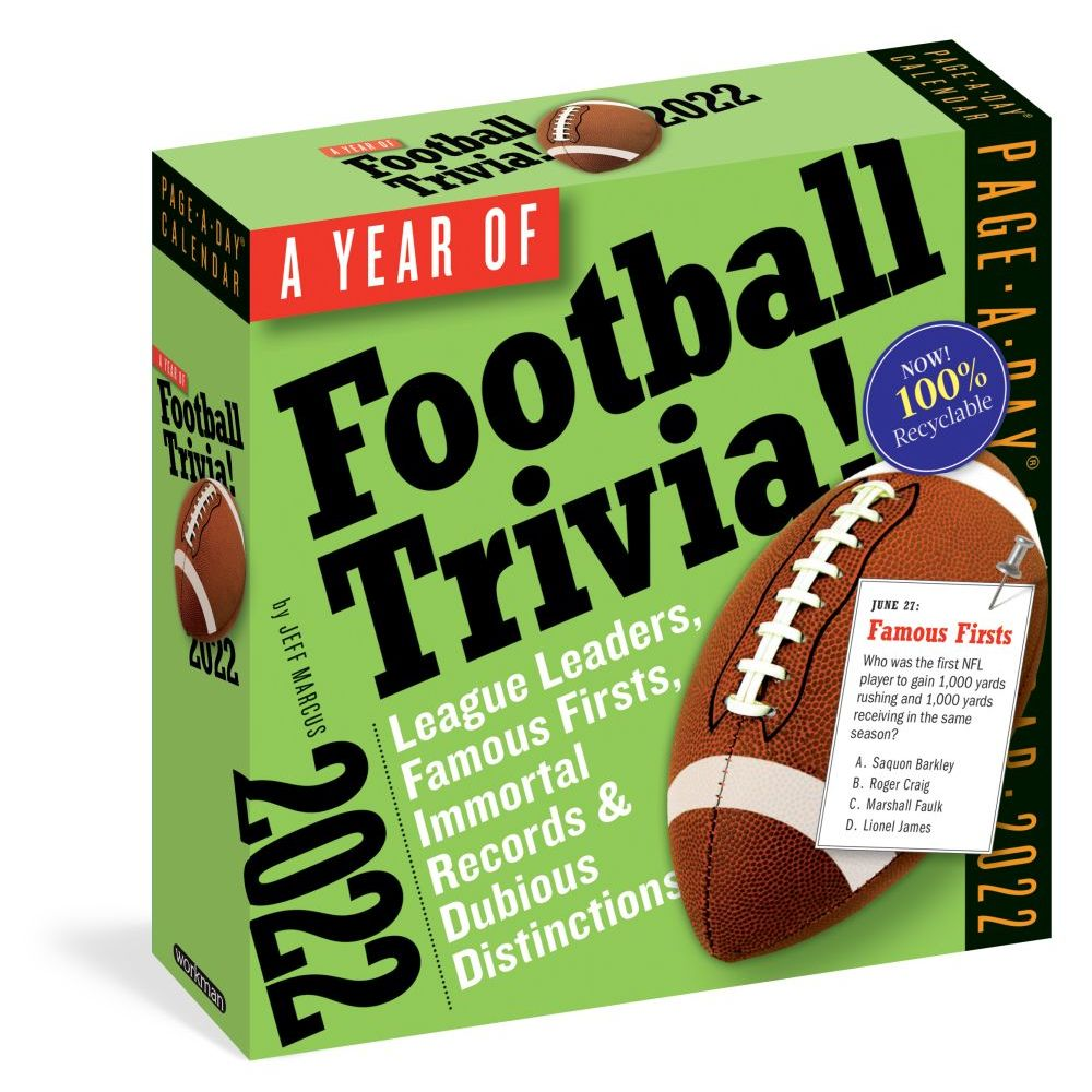 A Year of Football Trivia! 2022 Page-A-Day Calendar