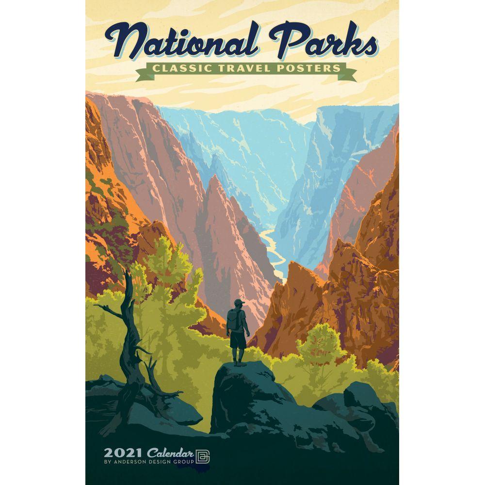 2021 National Parks Classic Travel Poster Calendar