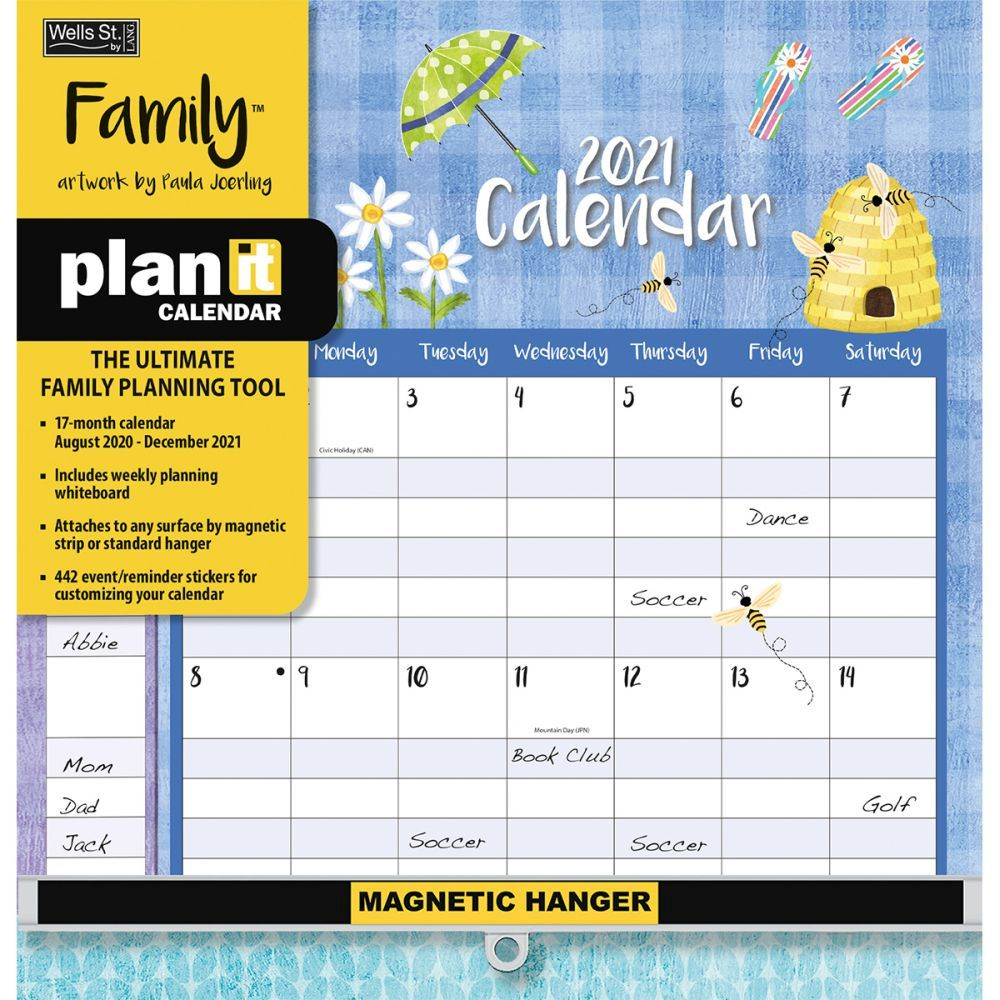 Family Plan-It Plus 2021 Wall Calendar
