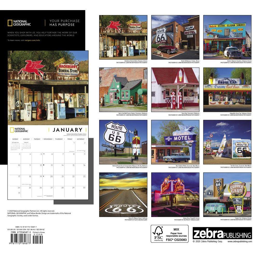 Route 66 Wall Calendar Calendars Com
