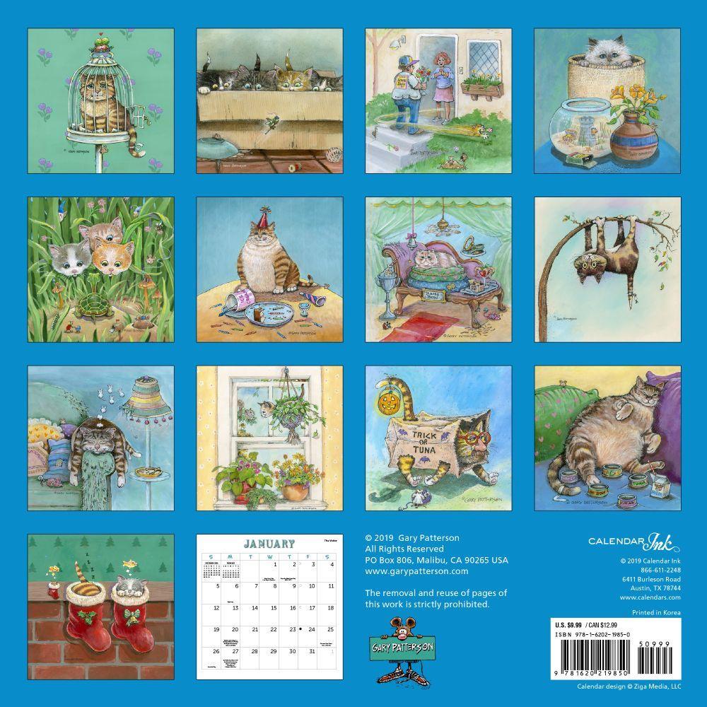 Patterson Cats Magnetic Wall Calendar - Calendars.com