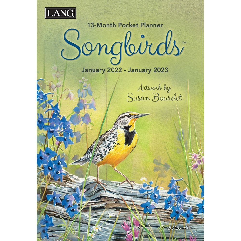 Songbirds Monthly 2022 Pocket Planner