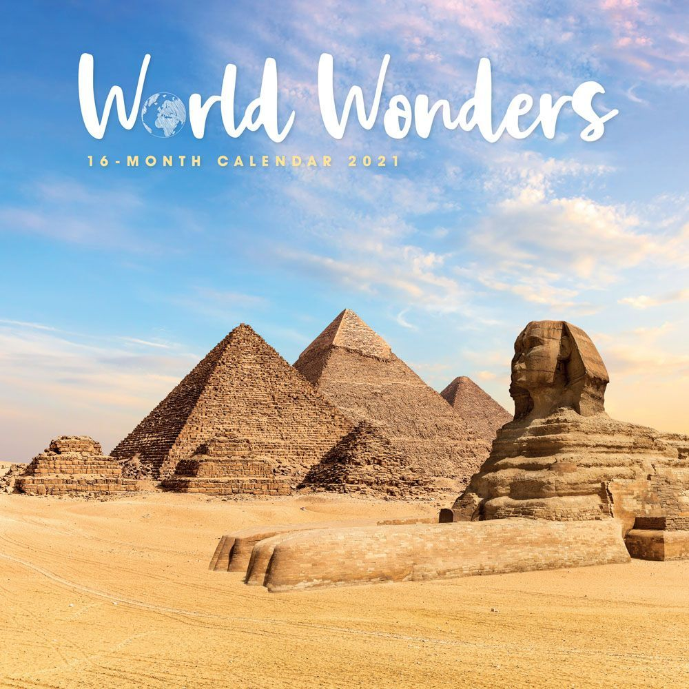 2021 World Wonders Wall Calendar