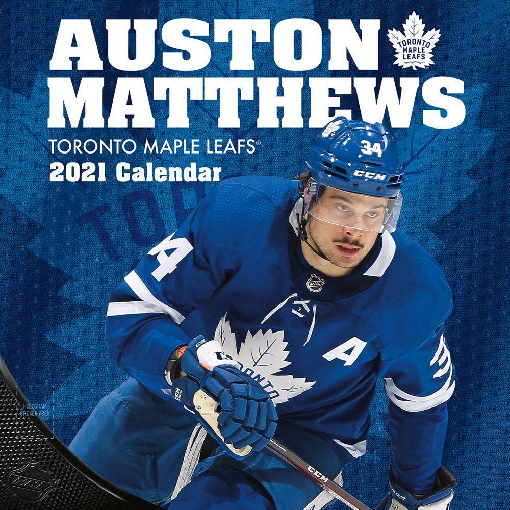 2021 Toronto Maple Leafs Auston Matthews Player Wall Calendar