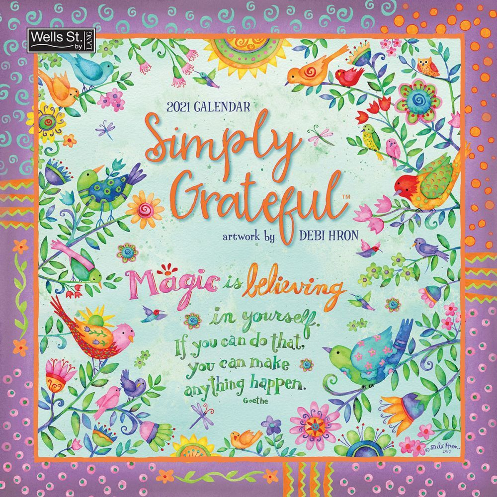2021 Simply Grateful Wall Calendar by Debi Hron