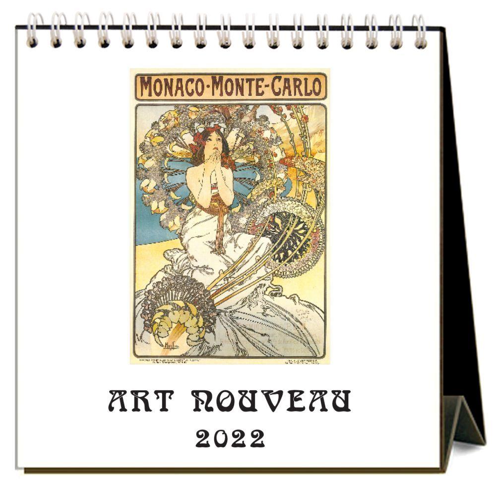 Art Nouveau 2022 Easel Desk Calendar