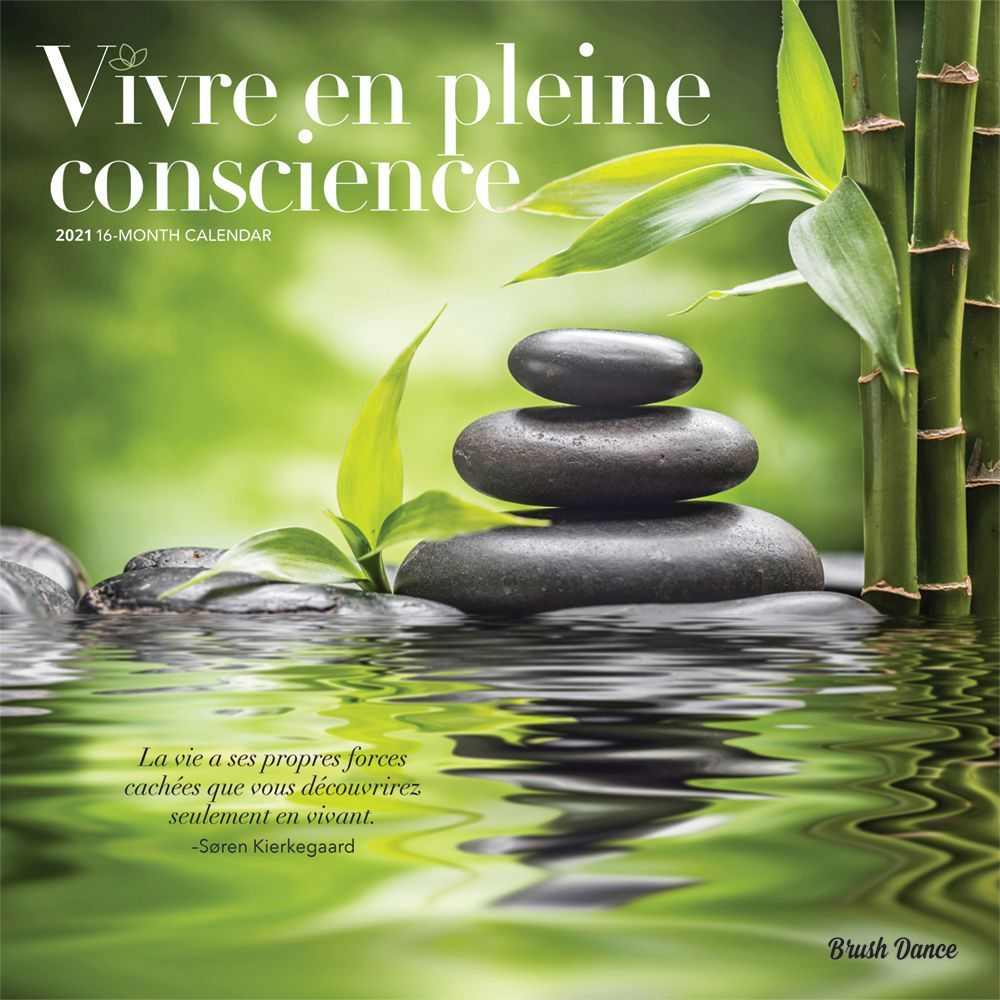 2021 Mindful Living Wall Calendar (French)
