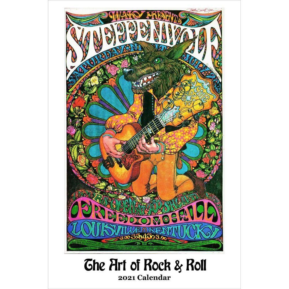 2021 Art of Rock & Roll Poster Wall Calendar