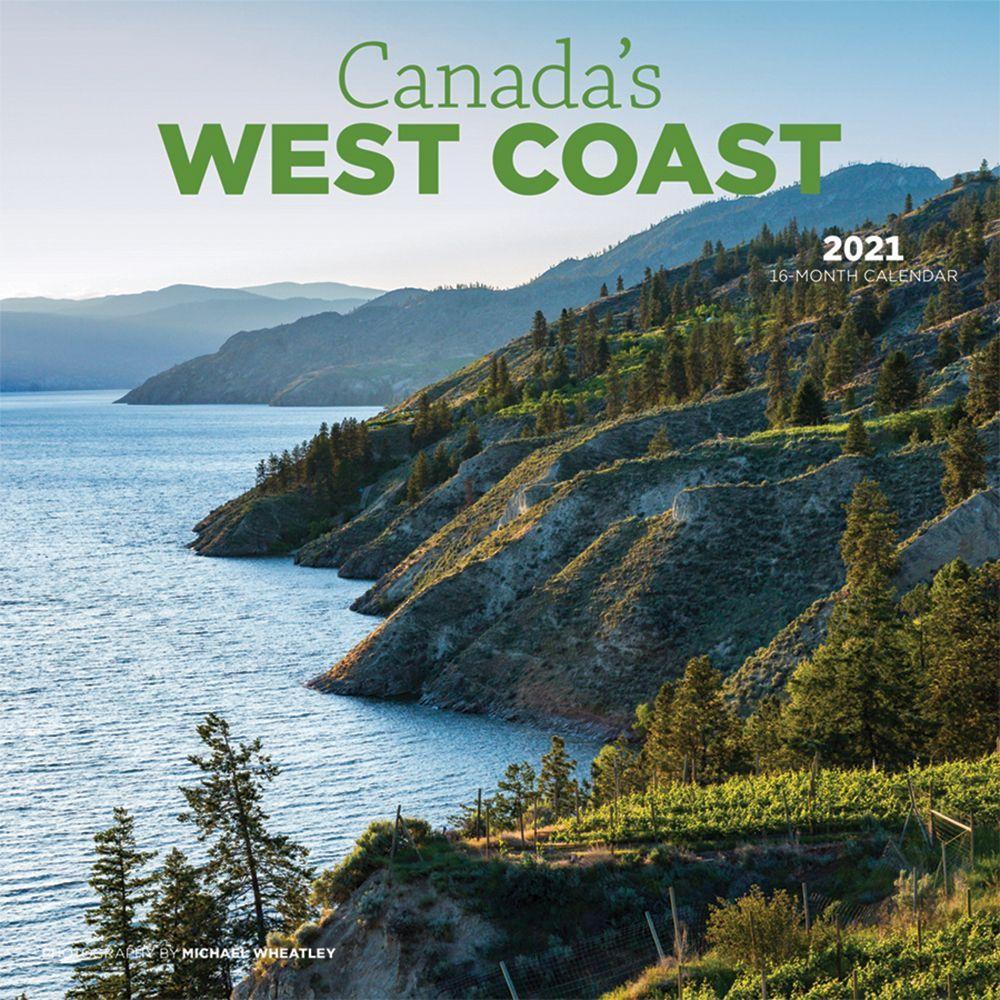 2021 Canada West Coast Wall Calendar