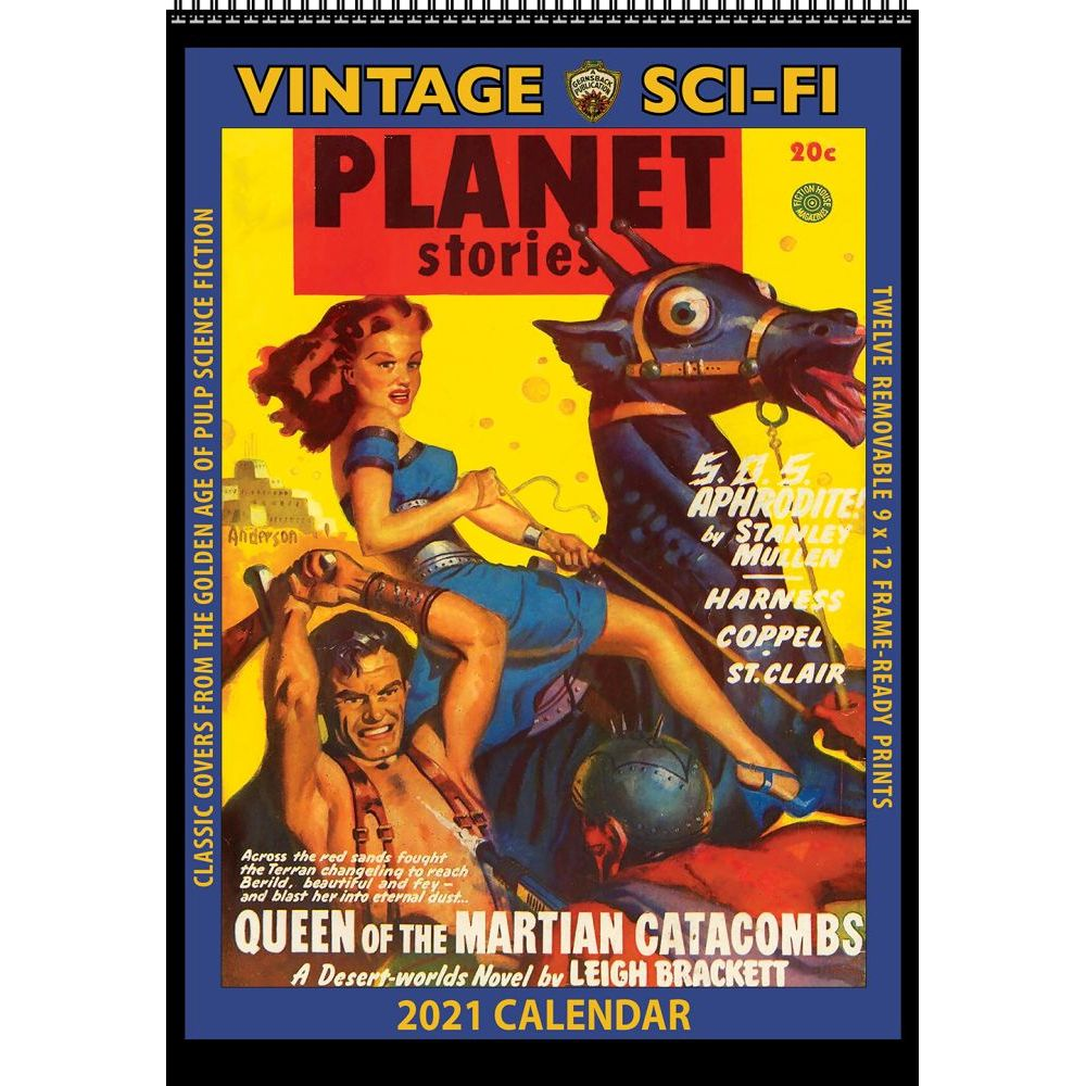 2021 Sci-Fi Vintage Wall Calendar