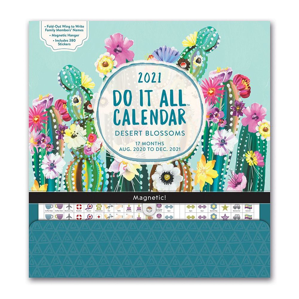 2021 Desert Blossoms Do It All Wall Calendar