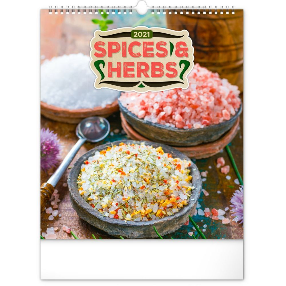 2021 Spices and Herbs Poster Wall Calendar