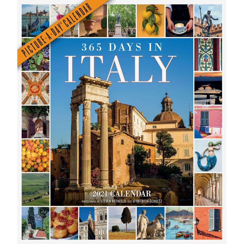 365 Days in Italy 2021 Wall Calendar