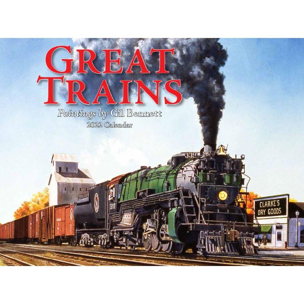 Trains Great 2022 Wall Calendar