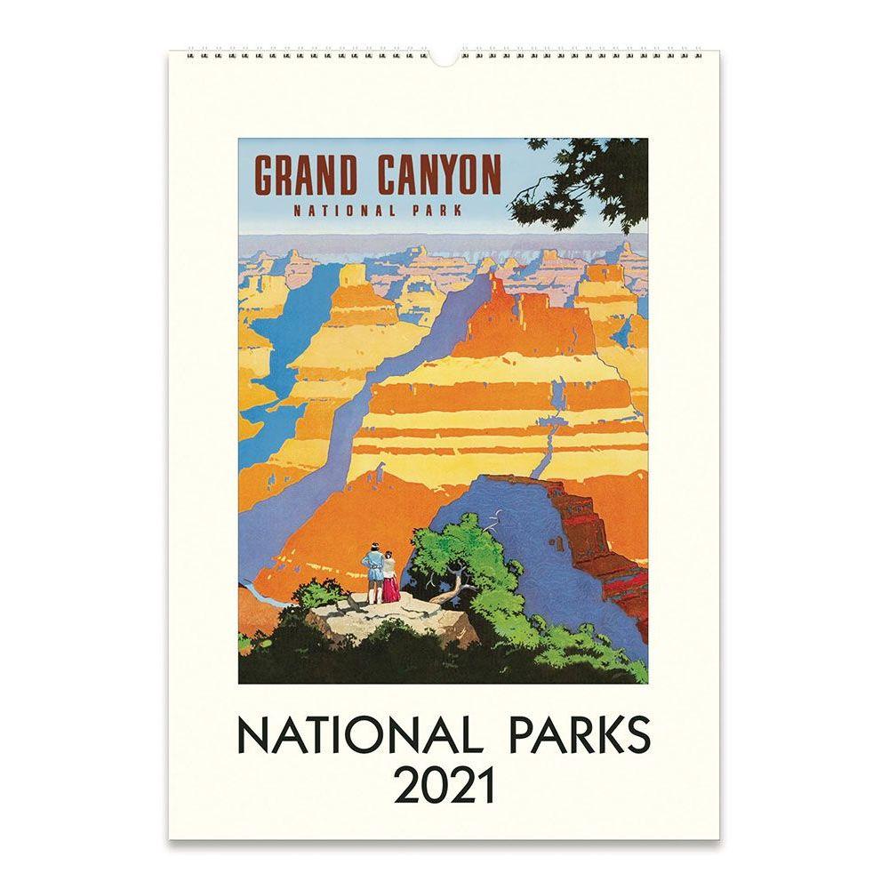 2021 National Parks Poster Wall Calendar