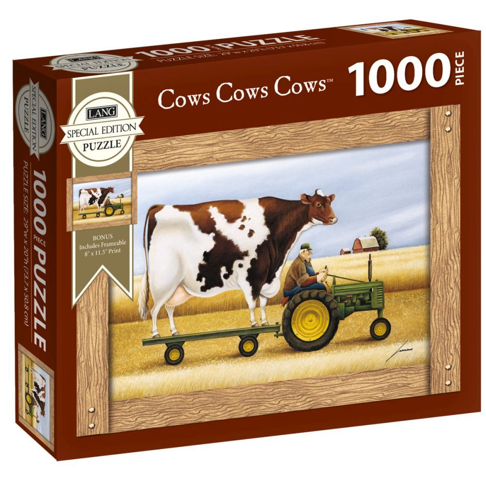 Best Cows Cows Cows Special Edition 1000pc Puzzle You Can Buy