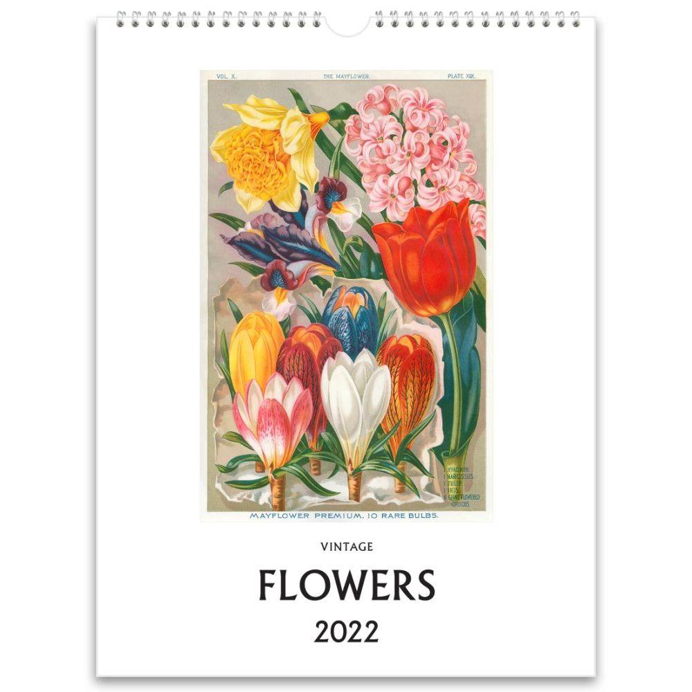 Flowers Vintage 2022 Poster Wall Calendar