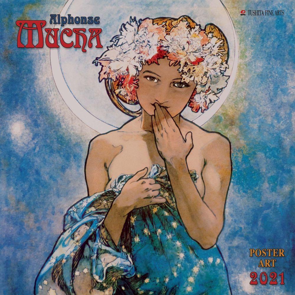 2021 Alphonse Mucha Poster Art Wall Calendar