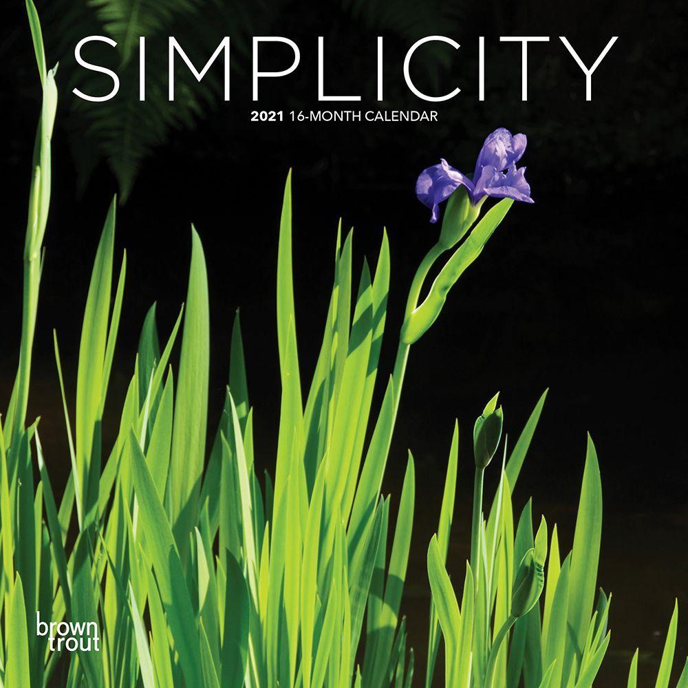 2021 Simplicity Mini Wall Calendar