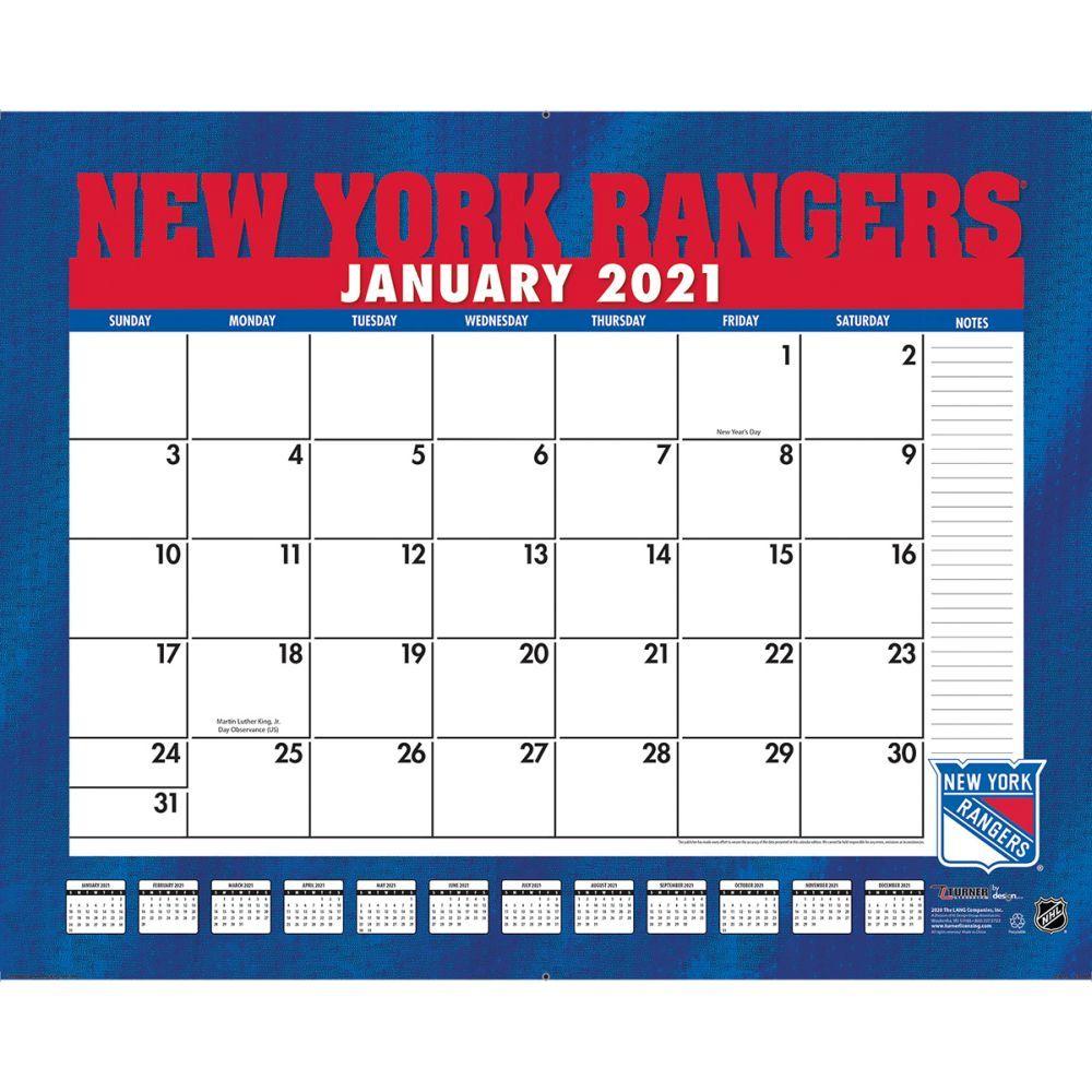 New York Rangers 2021 Desk Pad