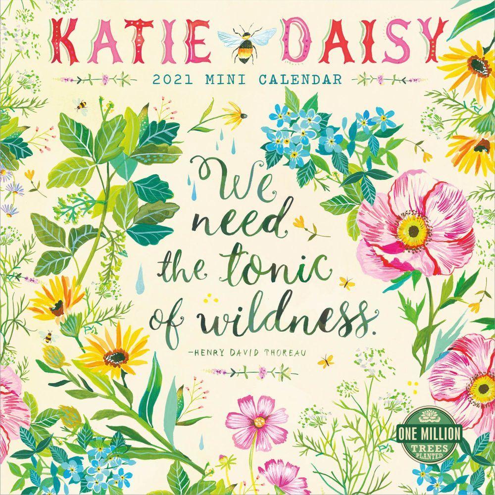 2021 Katie Daisy Mini Wall Calendar