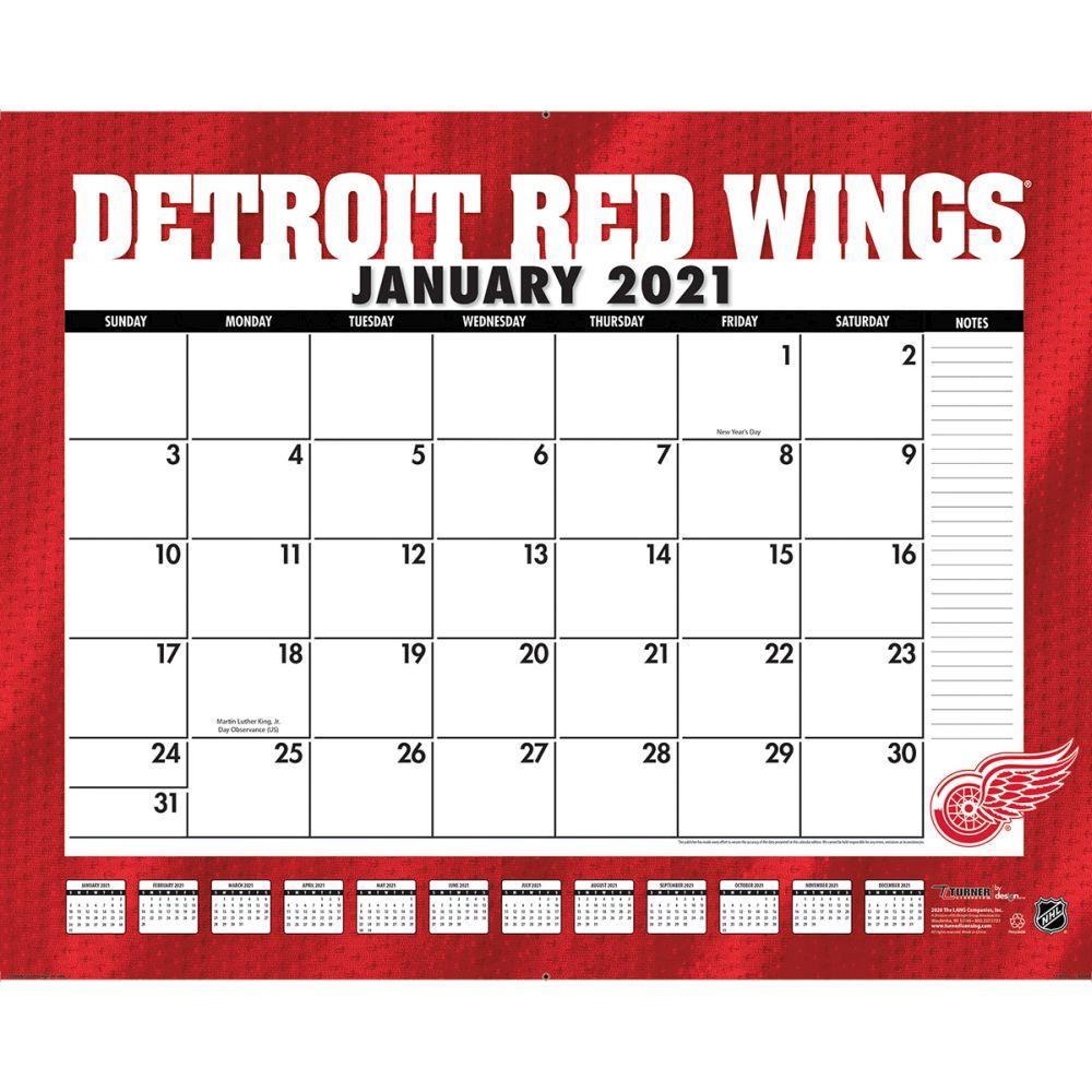 Detroit Red Wings 2021 Desk Pad