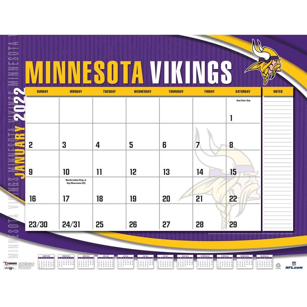 Minnesota Vikings 2022 Desk Pad