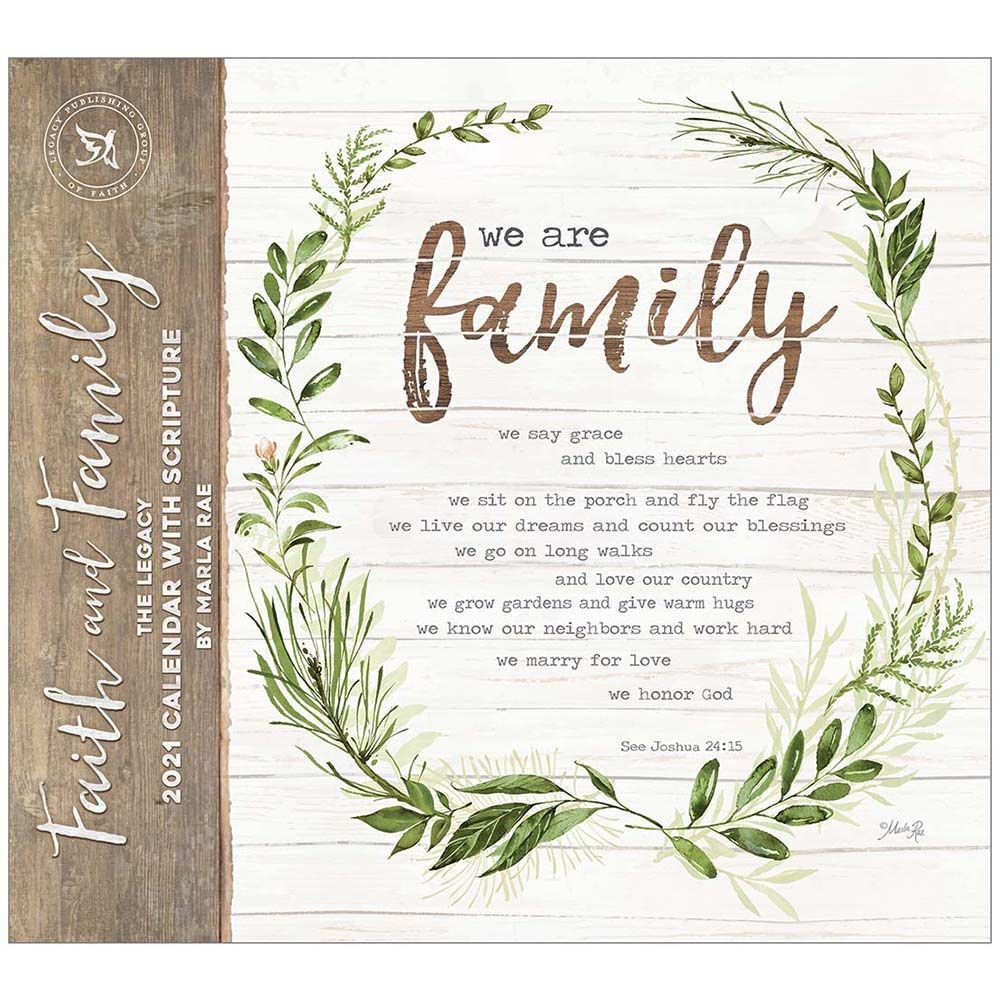 2021 Faith and Family Wall Calendar