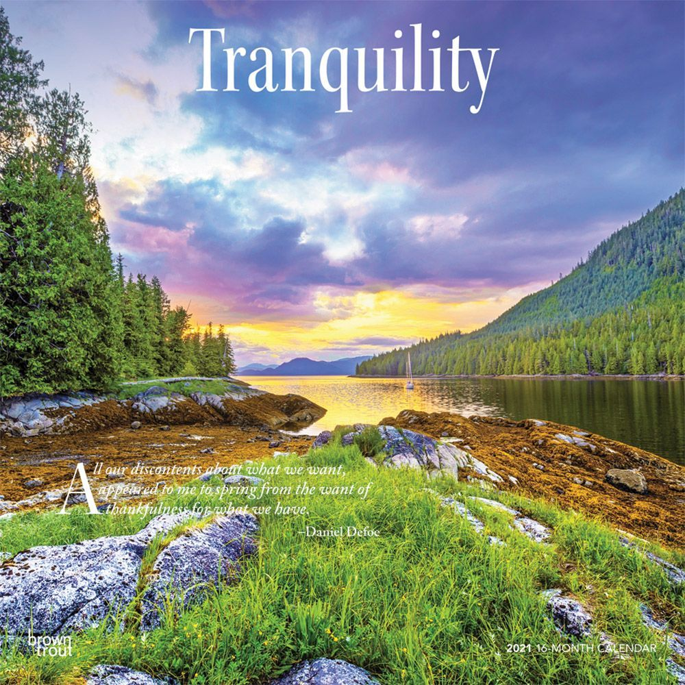 2021 Tranquility Wall Calendar