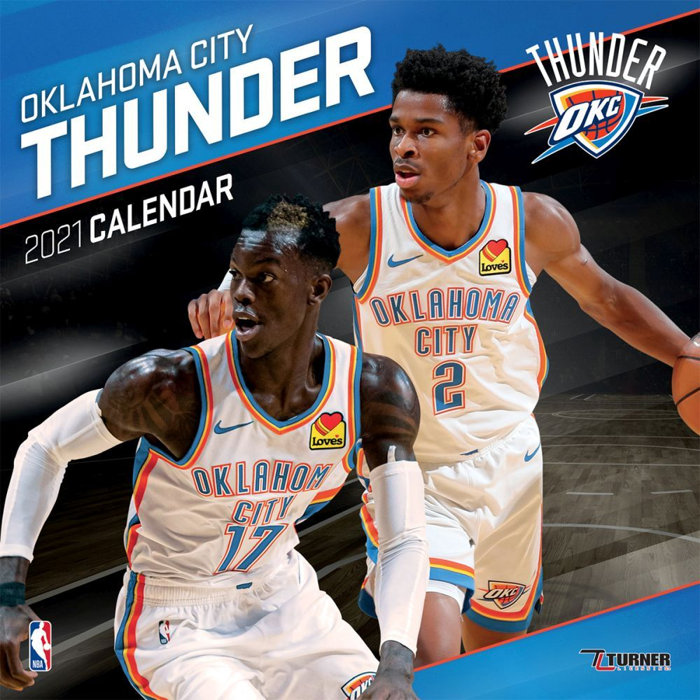 2021 Oklahoma City Thunder Team Wall Calendar