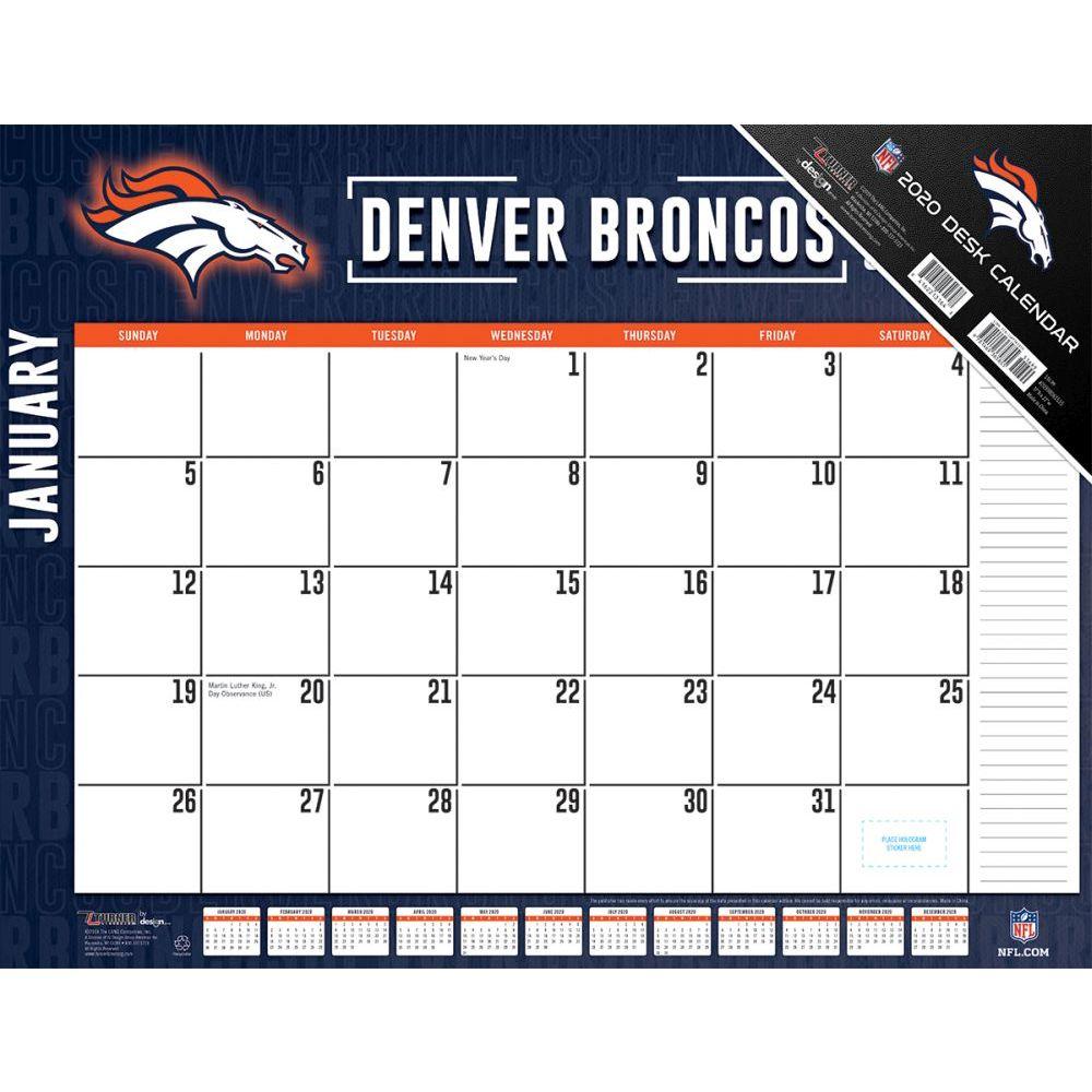 Denver Broncos 2021 Desk Pad