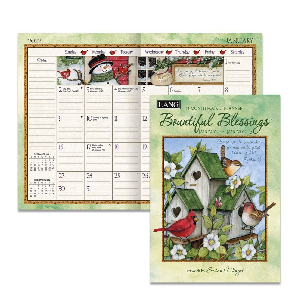 Bountiful Blessings 2022 Monthly Planner