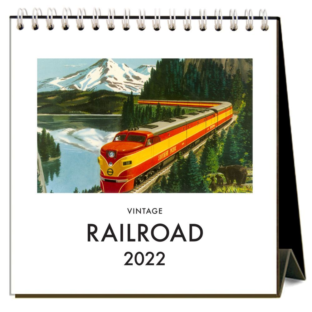 Railroad 2022 Desk Calendar