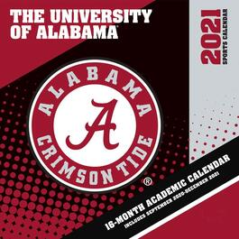 Alabama Crimson Tide Mini Wall Calendar