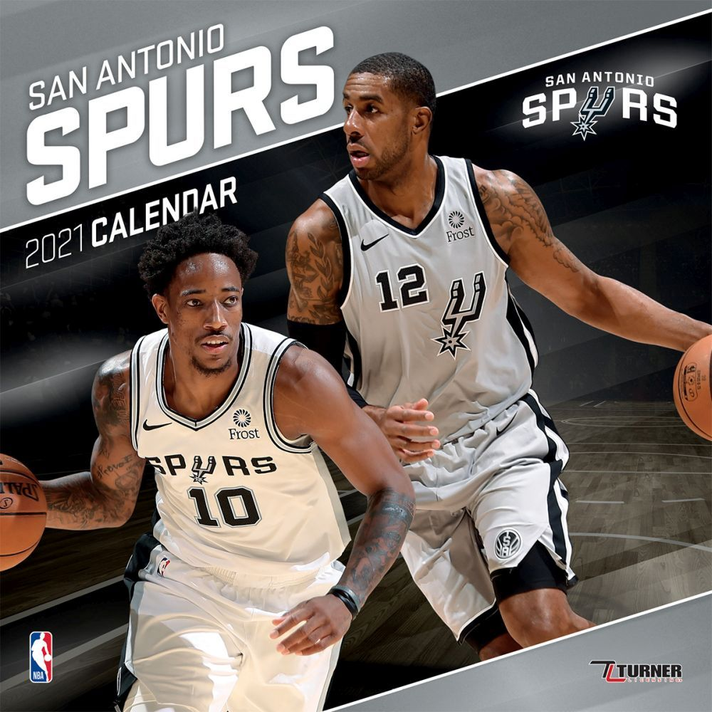 2021 San Antonio Spurs Team Wall Calendar
