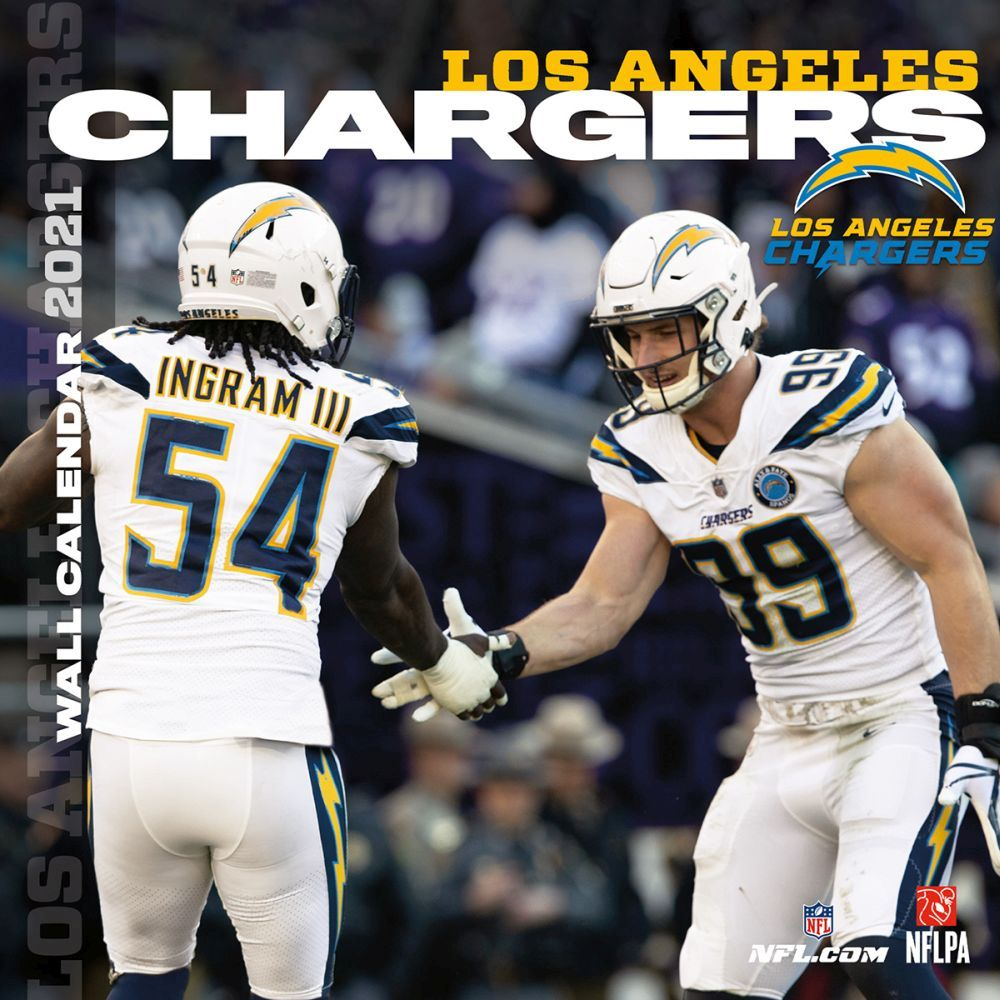 Los Angeles Chargers 2020 Wall Calendar