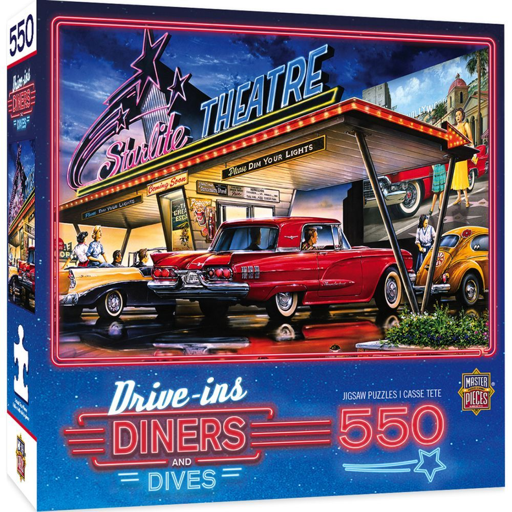 Best Drive-In 550pc Puzzle You Can Buy